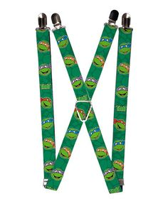 Look what I found on #zulily! Green TMNT 'Faces' Suspenders #zulilyfinds