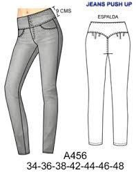 Spanish site with patterns for sale. This is an interesting design for a pant back; the only downside is no back pocket for your phone. Clothing Patterns, Dress Patterns, Sewing Patterns, Diy Fashion, Fashion Outfits, Fashion Design, Altering Pants, Pants Pattern, Fes