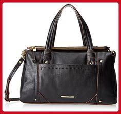 Nine West Saddle Up Satchel Top Handle Bag, Black, One Size - Satchels (*Amazon Partner-Link)
