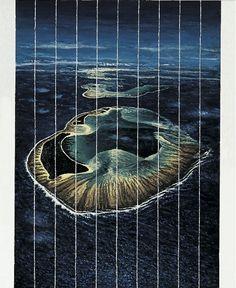 Andrea Zucchi, Atollo di Kaiangel, 2005, olio su lino, cm 70x60.