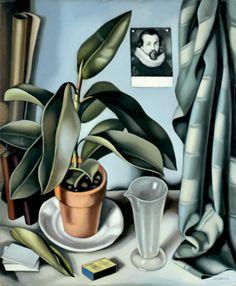 Tamara de Lempica (1898-1980)    Succulent and Flask, 1941