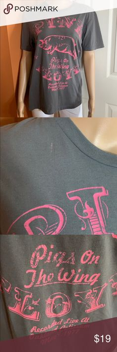 5e175aa32cae Pink Floyd pigs on the wing concert T-shirt gray Cute Old Navy Pink Floyd