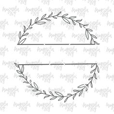 Hand Drawn Split Wreath SVG Design, Wreath svg cut file for Silhouette, Cut files for Cricut, Farmhouse Style, Handmade svg cutting file - Hand gezeichnet Split Kranz SVG Design Kranz Svg Schnitt - Wreath Drawing, Cricut, Border Design, Bullet Journal Inspiration, Svg Cuts, Cutting Files, Embroidery Patterns, Zentangle Patterns, How To Draw Hands