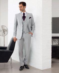 costume homme | Costume Homme 3 Pièces Gris Clair BALTIK 140