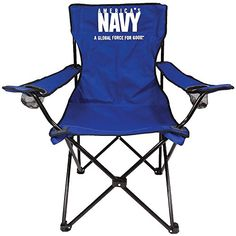 SD Military Camp Chair Navy -- Learn more by visiting the image link. Camping Furniture, Camping Chairs, Outdoor Furniture, Picture Logo, Butterfly Chair, Outdoor Chairs, Military, Folding Chairs, Furnitures