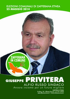 I nostri Candidati: Giuseppe Privitera #ZafferanainComune #AlfioRussoSindaco