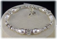 New Swarovski White Pearl/Crystal Vintage by HisJewelsCreations, $54.00