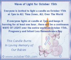 October is pregnancy and infant loss awareness month!!