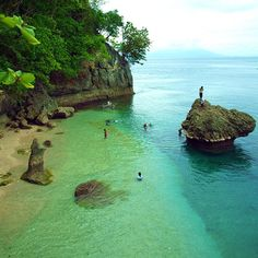 Canibad Beach,Samal Island. Philippines.