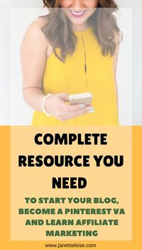 Here are some of my favorite resources when starting my career as a Pinterest VA, creating my website, guides for blogging, free feminine stock photos, affiliate marketing, and more! Feel free to check them out to use in your business.
