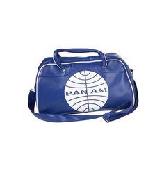 Bolsa viaje Panam retro azul