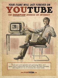 Social Media in Vintage-Look - RECLAMEPRAAT