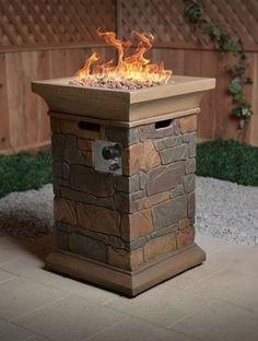 Gas Fire Pit Outdoor Propane Backyard Patio Heater Portable Fireplace Deck Stone