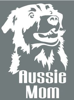 Aussie Mom  - White Vinyl Decal by thiscrazylifeDESIGNS on Etsy