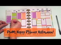 PWM -Happy Planner Halloween- Plan With Me!