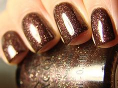 Holiday Glow - opi brown sparkle nail polish