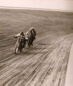 Vintage motorcycle board track racing photos