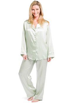Pearl White Silk Pajamas Set For Women   Pajamas   Pinterest ...