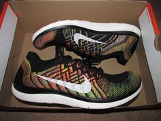 Nike Free 4.0 Flyknit Mens Running Shoes 12 Black Multi-Color 717075 011 #Nike…