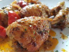 Μπουτάκια κοτόπουλο με λαχανικά στο φούρνο!!!