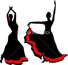 Two silhouettes of flamenco dancer Dancer Tattoo, Cross Stitch Silhouette, Spanish Dancer, Flamenco Dancers, Bridal Mehndi Designs, Modern Art Paintings, Pebble Painting, Pastel Art, Wood Wall Art