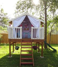 We really liked the hand made hide-away idea for our back yard.