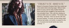 May 30, 2014 - Outlander Newsletter: How Caitriona became Claire