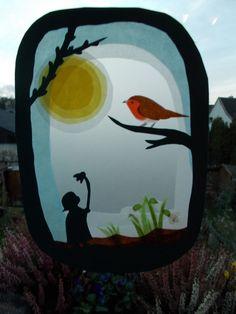 Waldorf Transparentbild Schneeglöckchen von Puppenprofi auf DaWanda.com