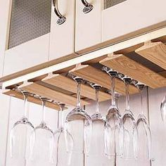So, you're a wine connoisseur and you need a clever way to display your new wineglasses. Here is just what you need: a simple plan for the wineglass rack that presents many...
