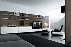 Wall storage systems | Storage-Shelving | Sintesi | Poliform. Check it out on Architonic