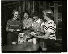 The Salt Lake Tribune Archive - Girl Scouts at Cloud Rim in 1950