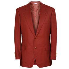 BRIONI $4,995 cranberry red cashmere silk blazer Palatino jacket 40/50 R NEW #Brioni #TwoButton #CranberryRed #Blazer #Sportcoat #ItalianFashion