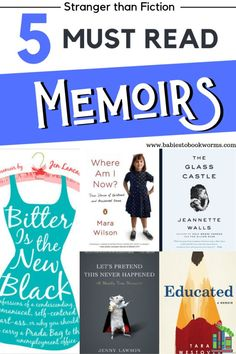 Looking for books to add to your reading list? Check out these 5 must read memoirs that are stranger than fiction! #memoirs #bookstoread #nonfictionbooks #toberead #reading #booklist