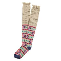 Ladeda Girls Aztec Knee High Boot Sock