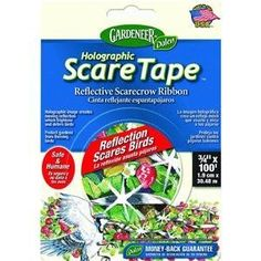 Dalen HST100 3/4-Inch by 100-Foot Holographic Bird Scare Tape by Dalen. $6.13. Holographic image creates moving reflection which frightens and deters birds. Dalen HST100 holographic bird scare tape helps protect buildings and plants. Contains one 100-foot roll of 3/4-inch tape. Great for balconies and railings. Protects your crops from birds as it flashes dramatically in the sunlight. From the Manufacturer                Reflective scarecrow tape with moving hologram helps ...