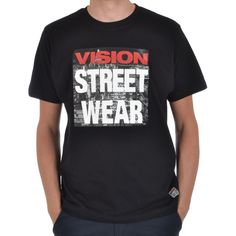 48e43acaf34 Vision Street Wear Mens Casual Short Sleeve Highrise T Shirt Tee Top -  Black  VisionStreetWear