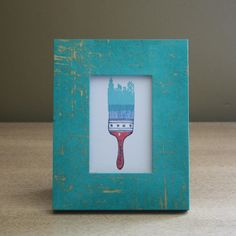 Gold & Turquoise Brush Picture Frame – FleaPop – Buy and sell home decor, furniture and antiques
