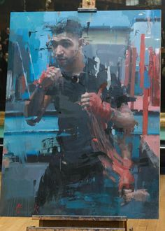 Winner of Portrait artist of the year - Chritian Hook. Portrait of boxer, Amir Khan. Art And Illustration, Figure Painting, Painting & Drawing, Painting Styles, Christian Hook, Art Pictures, Photos, Figurative Kunst, Art Corner