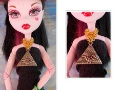 Doll Jewelry Japanese Hana-Gusari Chainmail Eye by FAIRLYGHOULISH