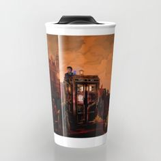 10th Doctor who trapped in the zombie land TRAVEL MUG  #travelmug #travel #mug #dontblink #statue #angel #spring #winter #fall #autumn #davidtennant #10thdoctor #fog #mist #doctorwho #tardis #starrynight #vangogh #halloween #summer #aztec #mayansimbols #dreamcatcher #zombie