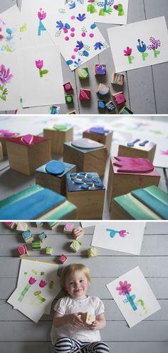 Mer Mag: DIY Flower Stamps