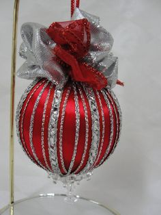 Stunning Handmade Beaded Christmas Tree Ornament by BobbyesHobbies, $15.00