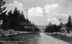 Garden Avenue Looking North, Cranbrook, circa 1915; before the streets widened for automobile traffic: Columbia Basin Institute of Regional History