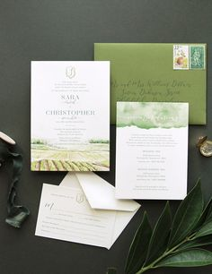 A custom watercolor invitation featuring Folino Estate and Winery's rolling Pennsylvania vineyard hills. Winery Wedding Invitations, Colorful Wedding Invitations, Wedding Branding, Printable Wedding Invitations, Wedding Invitation Wording, Wedding Venues, Invitation Design, Invitation Cards, Invites