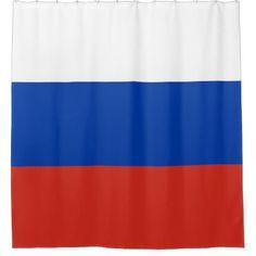 Russia flag shower curtain - shower curtains home decor custom idea personalize bathroom