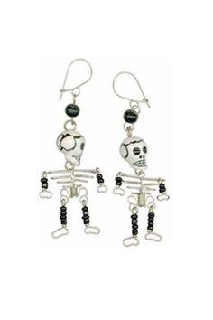 Skeleton Earrings from Alternatives Global Marketplace