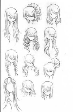 This helped me trying to draw hair from the front.
