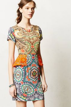 I'm obsessed with this Sunchart Peplum Dress