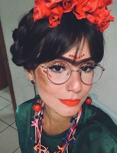 Mexican Halloween Costume, Halloween Looks, Halloween 2019, Halloween Diy, Halloween Makeup, Carnival Costumes, Diy Costumes, Make Carnaval, Mexico Fashion