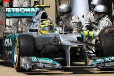 Nico Rosberg (GER) Mercedes AMG F1 W03 makes a pit stop. Formula One World Championship, Rd7, Canadian Grand Prix, Race, Montreal, Canada, Sunday, 10 June 2012. F1 Grand Prix http://VIPsAccess.com